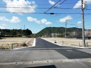 現地7号地側の道路より撮影